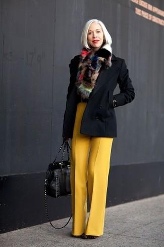 полупальто широкие брюки ботильоны большая сумка шарф large 13294