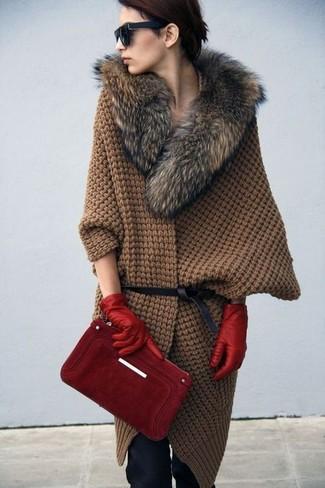 красные перчатки с чем носить фото