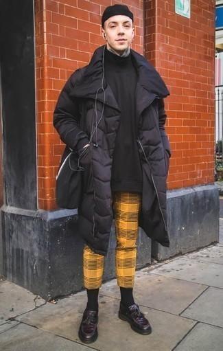 Мужской черный пуховик от Puma