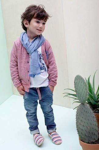 Детская белая футболка с принтом для мальчиков от Simonetta