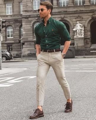 0735cc0d1631 1 740 руб., Мужская темно-зеленая рубашка с длинным рукавом от Topman