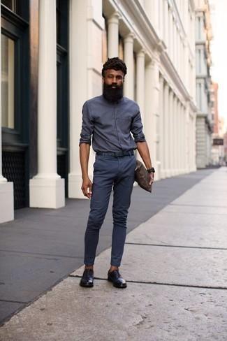 Темно-синие брюки чинос от Boss Orange