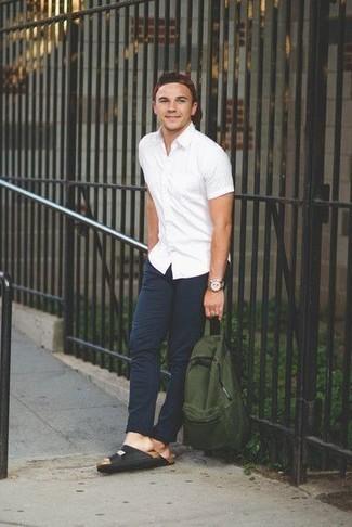 Мужская белая рубашка с коротким рукавом от Burton Menswear London