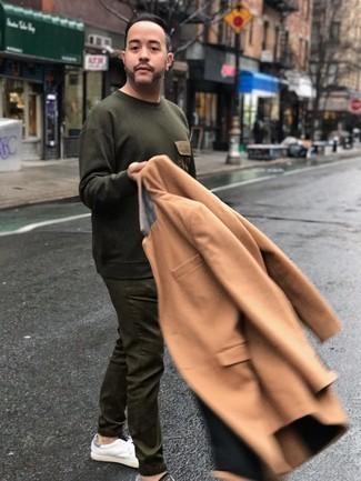 Мужской оливковый свитер с круглым вырезом от Brave Soul