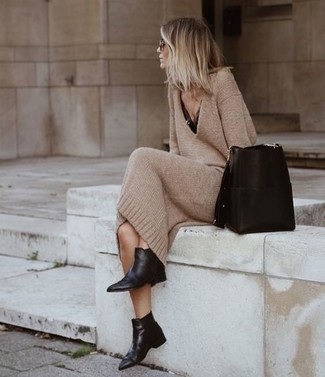 Черная кожаная сумка-мешок от Ulla Johnson