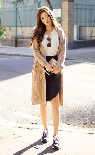 Кардиган и юбка карандаш фото