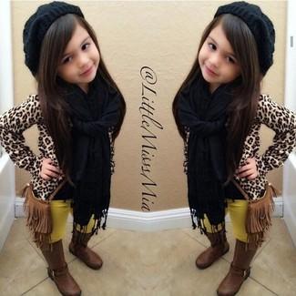 Черный шарф: с чем носить и как сочетать девочке:
