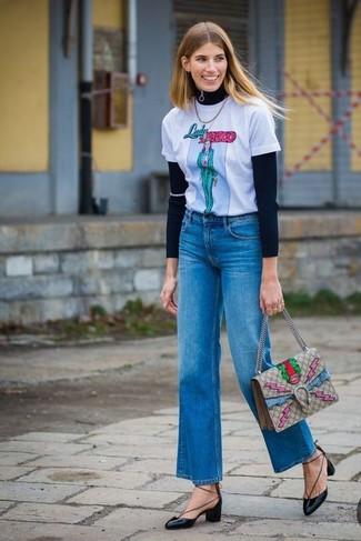 4ef5ea82d8d С чем носить джинсы-клеш  Модные луки (150 фото)