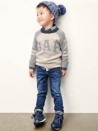 Темно-синие джинсы: с чем носить и как сочетать мальчику: