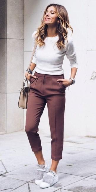Женские белые кожаные низкие кеды от Golden Goose Deluxe Brand