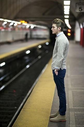 Темно-синие брюки чинос от Tommy Hilfiger