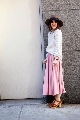 Длинная юбка шляпа