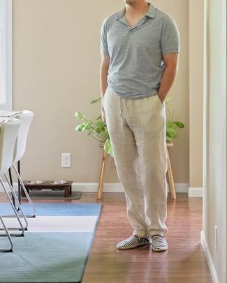 Мужская серая футболка-поло от Celio