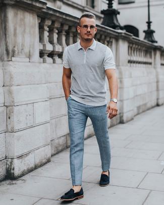Мужская серая футболка-поло от Asics