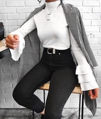Женский черный кожаный ремень от Gucci