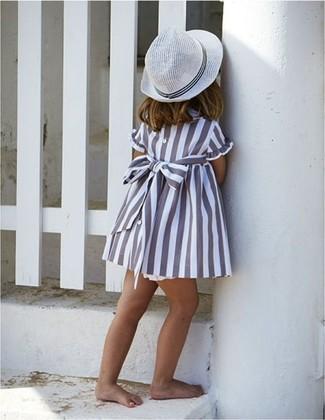 Как и с чем носить: серое платье, белая шляпа