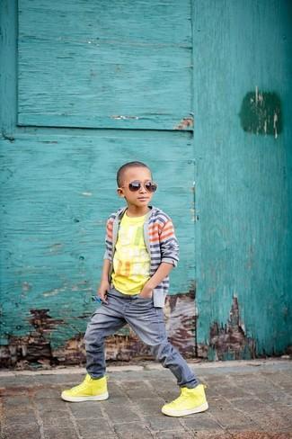 Серые джинсы: с чем носить и как сочетать мальчику:
