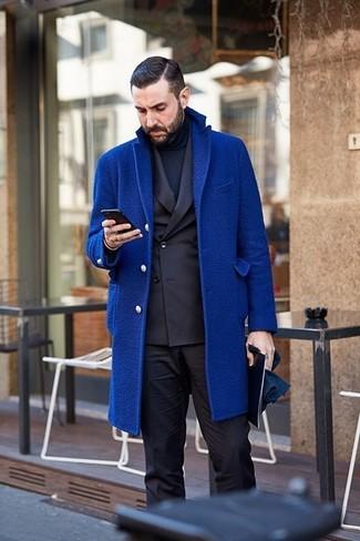 Мужская темно-синяя водолазка от Top Secret