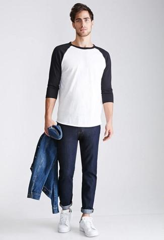 Мужская синяя джинсовая куртка от Tommy Hilfiger Denim