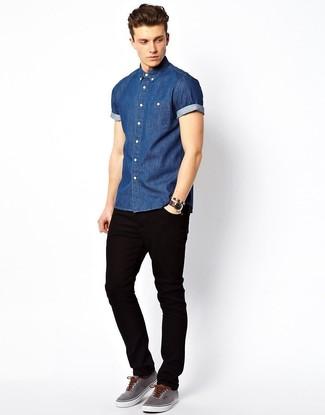 Мужские черные джинсы от G Star