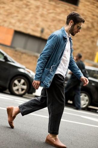 Мужские темно-серые джинсы от Topman