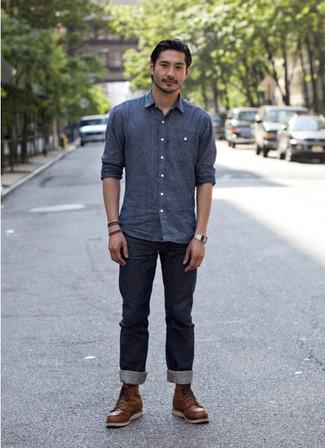 Мужские коричневые кожаные рабочие ботинки от Reflex