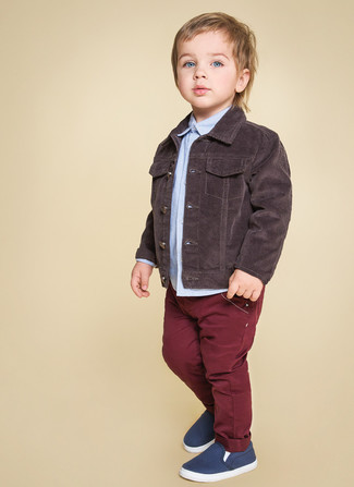 Детская голубая рубашка с длинным рукавом для мальчику от Paul Smith