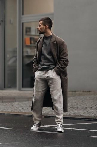 Мужской темно-серый свитер с круглым вырезом от ADPT