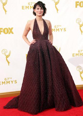 темно красное вечернее платье из бисера large 13695