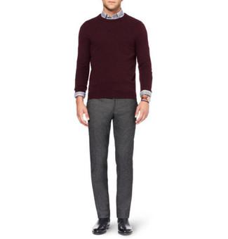 Мужская серая рубашка с длинным рукавом от Topman