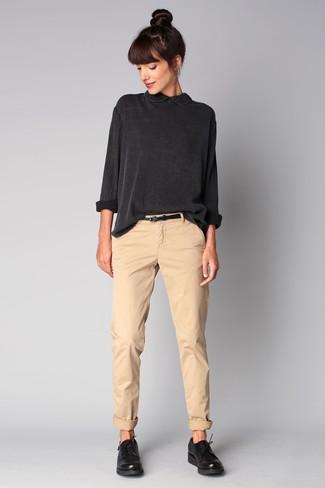 2bc51052773 Темно-серая блузка с длинным рукавом от Brunello Cucinelli