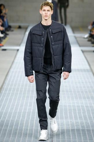 aef7338c С чем носить темно-серую куртку-пуховик мужчине? Модные луки (16 ...