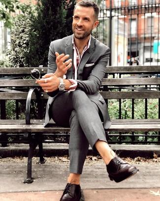 Темно-коричневые кожаные туфли дерби от Aldo