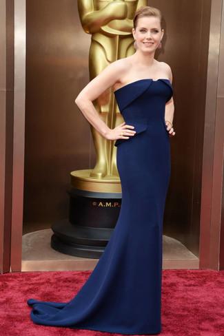 темно синее вечернее платье large 1383
