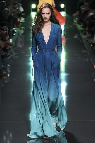 38c873f1ea4 С чем носить омбре вечернее платье  Модные луки (4 фото)