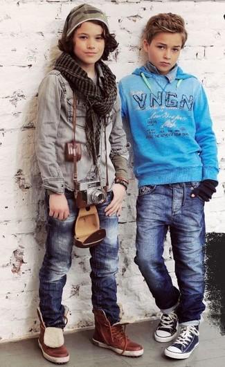 Как и с чем носить: темно-синие джинсы