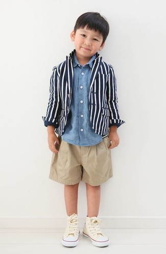 Бежевые шорты: с чем носить и как сочетать мальчику: