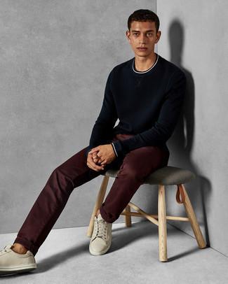 Темно-красные брюки чинос от Selected Homme