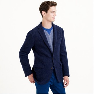 Мужской синий свитер с круглым вырезом от Topman