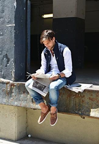 Мужские синие джинсы от Fobo