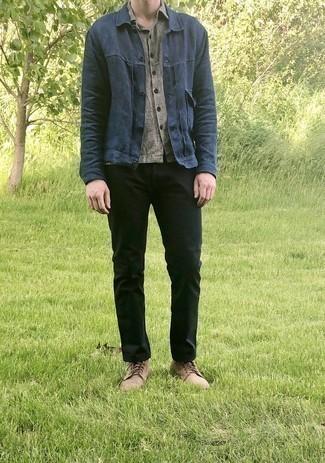 Мужская серая рубашка с коротким рукавом от River Island