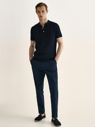 Мужская темно-синяя футболка-поло от Boss Orange