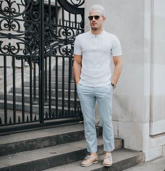 Мужская белая футболка-поло от Lonsdale