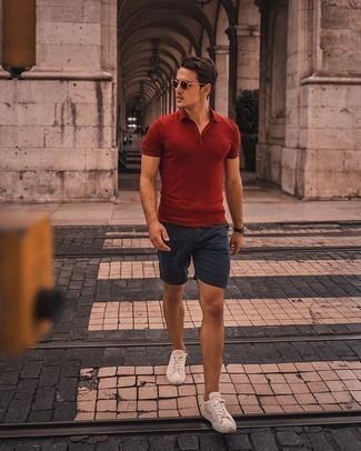 Мужская красная футболка-поло от Wilson