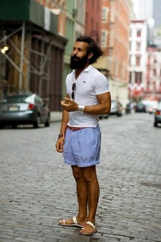 Мужская белая футболка-поло от Wilson