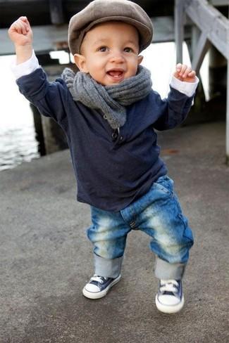 Серый шарф: с чем носить и как сочетать мальчику: