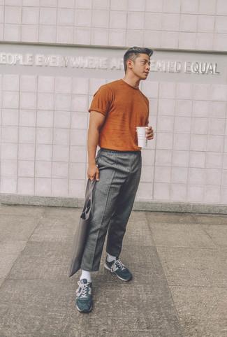 Серые шерстяные брюки чинос от Incotex