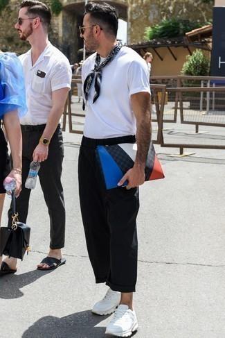 Мужские белые кожаные кроссовки от Puma