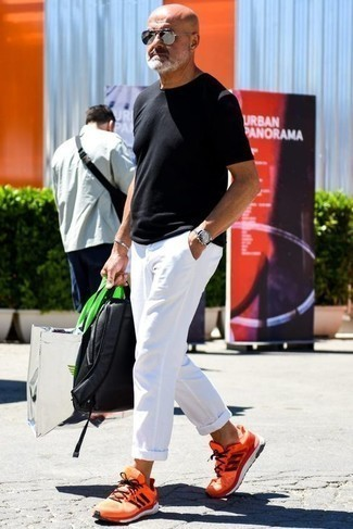 Мужские оранжевые кроссовки от Umbro