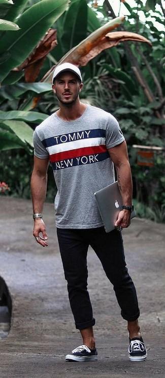 Мужская серая футболка с круглым вырезом с принтом от Everlast